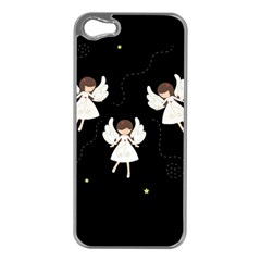 Christmas Angels  Apple Iphone 5 Case (silver) by Valentinaart
