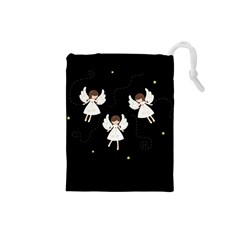 Christmas Angels  Drawstring Pouches (small)  by Valentinaart