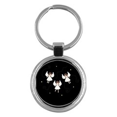 Christmas Angels  Key Chains (round)  by Valentinaart
