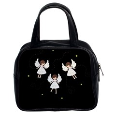 Christmas Angels  Classic Handbags (2 Sides) by Valentinaart