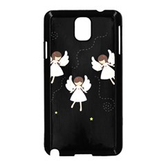 Christmas Angels  Samsung Galaxy Note 3 Neo Hardshell Case (black) by Valentinaart
