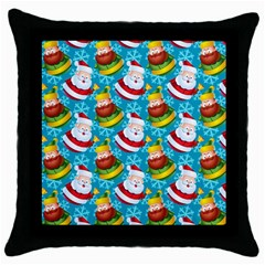 Christmas Pattern Throw Pillow Case (black) by tarastyle