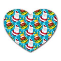 Christmas Pattern Heart Mousepads by tarastyle