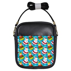 Christmas Pattern Girls Sling Bags by tarastyle