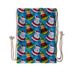 Christmas Pattern Drawstring Bag (small) by tarastyle