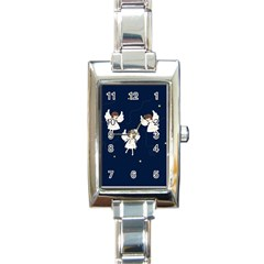 Christmas Angels  Rectangle Italian Charm Watch by Valentinaart