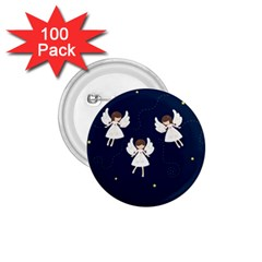 Christmas Angels  1 75  Buttons (100 Pack)  by Valentinaart
