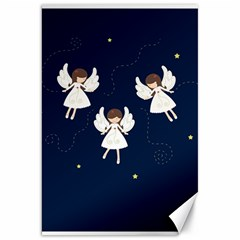Christmas Angels  Canvas 20  X 30   by Valentinaart