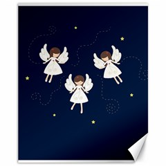 Christmas Angels  Canvas 11  X 14   by Valentinaart