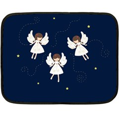 Christmas Angels  Fleece Blanket (mini) by Valentinaart