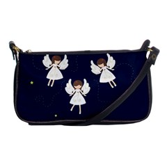 Christmas Angels  Shoulder Clutch Bags by Valentinaart