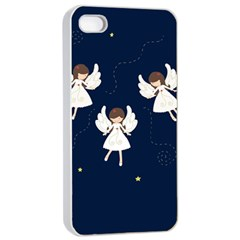Christmas Angels  Apple Iphone 4/4s Seamless Case (white) by Valentinaart