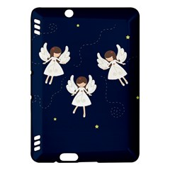 Christmas Angels  Kindle Fire Hdx Hardshell Case by Valentinaart