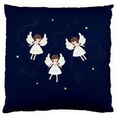 Christmas Angels  Large Flano Cushion Case (two Sides) by Valentinaart