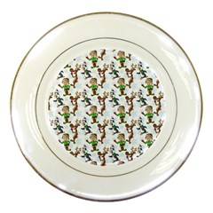 Christmas Pattern Porcelain Plates by tarastyle