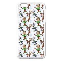 Christmas Pattern Apple Iphone 6 Plus/6s Plus Enamel White Case by tarastyle