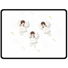Christmas Angels  Double Sided Fleece Blanket (large)  by Valentinaart