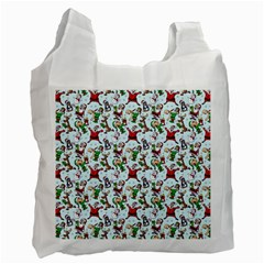 Christmas Pattern Recycle Bag (one Side) by tarastyle