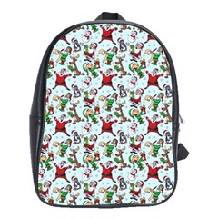 Christmas Pattern School Bag (large) by tarastyle