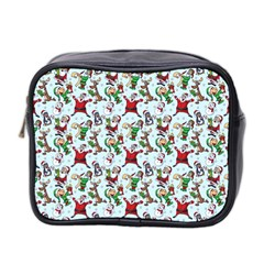 Christmas Pattern Mini Toiletries Bag 2 Side by tarastyle