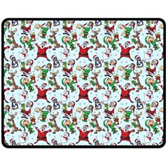 Christmas Pattern Fleece Blanket (medium)  by tarastyle