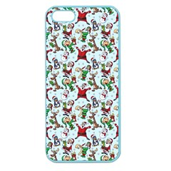 Christmas Pattern Apple Seamless Iphone 5 Case (color) by tarastyle