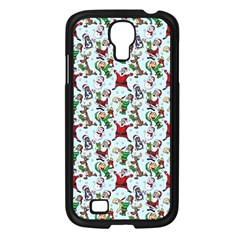 Christmas Pattern Samsung Galaxy S4 I9500/ I9505 Case (black) by tarastyle