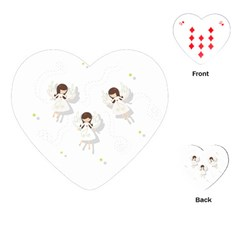 Christmas Angels  Playing Cards (heart)  by Valentinaart
