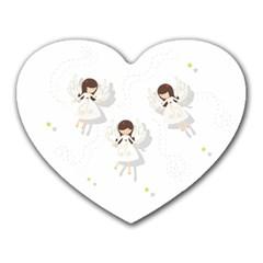 Christmas Angels  Heart Mousepads by Valentinaart