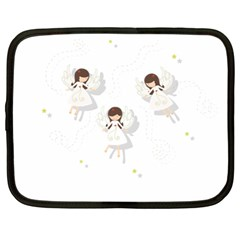 Christmas Angels  Netbook Case (xl)  by Valentinaart