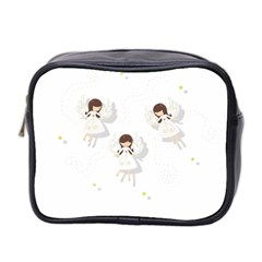 Christmas Angels  Mini Toiletries Bag 2 Side by Valentinaart