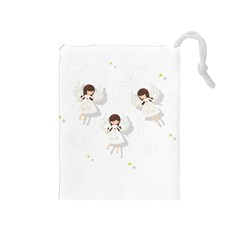 Christmas Angels  Drawstring Pouches (medium)  by Valentinaart