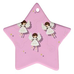 Christmas Angels  Star Ornament (two Sides) by Valentinaart