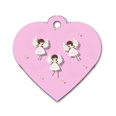 Christmas Angels  Dog Tag Heart (two Sides) by Valentinaart