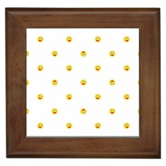 Happy Sun Motif Kids Seamless Pattern Framed Tiles by dflcprintsclothing