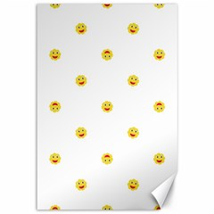 Happy Sun Motif Kids Seamless Pattern Canvas 12  X 18   by dflcprintsclothing