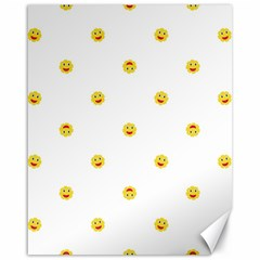 Happy Sun Motif Kids Seamless Pattern Canvas 16  X 20   by dflcprintsclothing