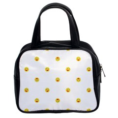 Happy Sun Motif Kids Seamless Pattern Classic Handbags (2 Sides) by dflcprintsclothing
