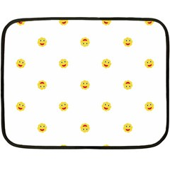 Happy Sun Motif Kids Seamless Pattern Double Sided Fleece Blanket (mini)  by dflcprintsclothing