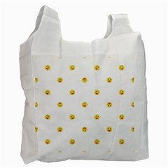 Happy Sun Motif Kids Seamless Pattern Recycle Bag (one Side) by dflcprintsclothing
