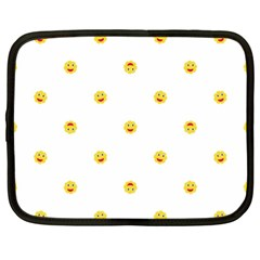 Happy Sun Motif Kids Seamless Pattern Netbook Case (xl)  by dflcprintsclothing