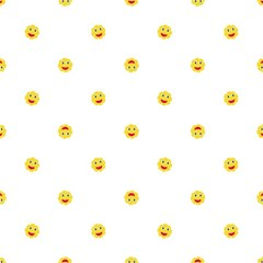 Happy Sun Motif Kids Seamless Pattern Magic Photo Cubes by dflcprintsclothing