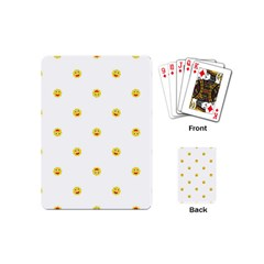 Happy Sun Motif Kids Seamless Pattern Playing Cards (mini)  by dflcprintsclothing