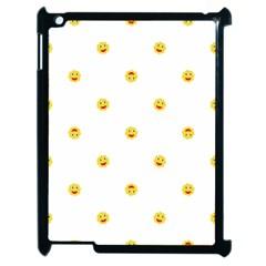 Happy Sun Motif Kids Seamless Pattern Apple Ipad 2 Case (black) by dflcprintsclothing