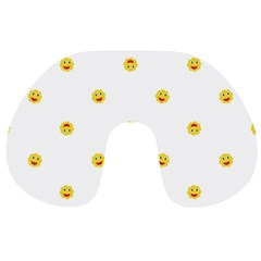 Happy Sun Motif Kids Seamless Pattern Travel Neck Pillows by dflcprintsclothing