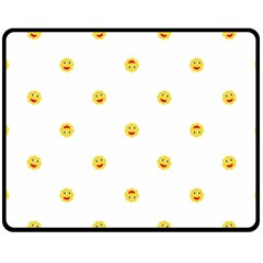 Happy Sun Motif Kids Seamless Pattern Double Sided Fleece Blanket (medium)  by dflcprintsclothing