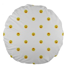 Happy Sun Motif Kids Seamless Pattern Large 18  Premium Flano Round Cushions by dflcprintsclothing