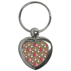 Christmas Pattern Key Chains (heart)  by tarastyle