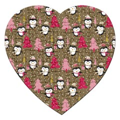 Christmas Pattern Jigsaw Puzzle (heart) by tarastyle