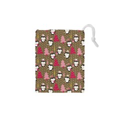 Christmas Pattern Drawstring Pouches (xs)  by tarastyle